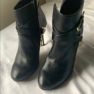 Marc Fisher Shoes - Black Leather high heel Boots by Marc Fisher